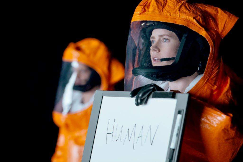 "Amy Adams as Dr. Louise Banks, who is recruited to help communicate with a race of extraterrestrials in ""Arrival."""