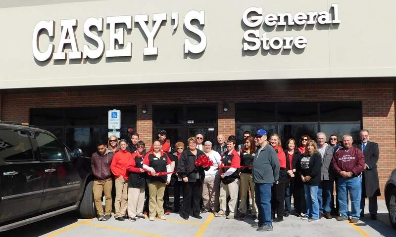 Customers and dignitaries were on hand Friday for the ribbon-cutting ceremony to mark the opening of the new Casey's General Store in West City. The business brings 28 jobs to the area.