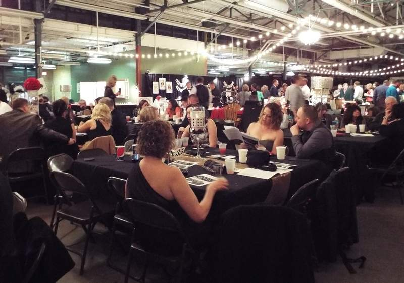 Sara and James Hawkins enjoy dinner Saturday night at the 29th-annual Du Quoin Youth Club Charity Ball.