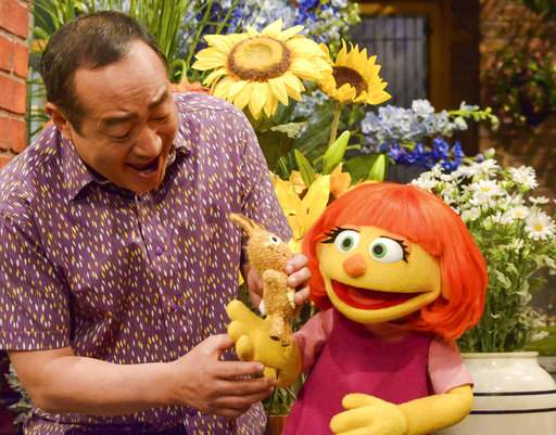 "This image released by Sesame Workshop shows Julia, a new autistic Muppet character debuting on the 47th season of ""Sesame Street."""