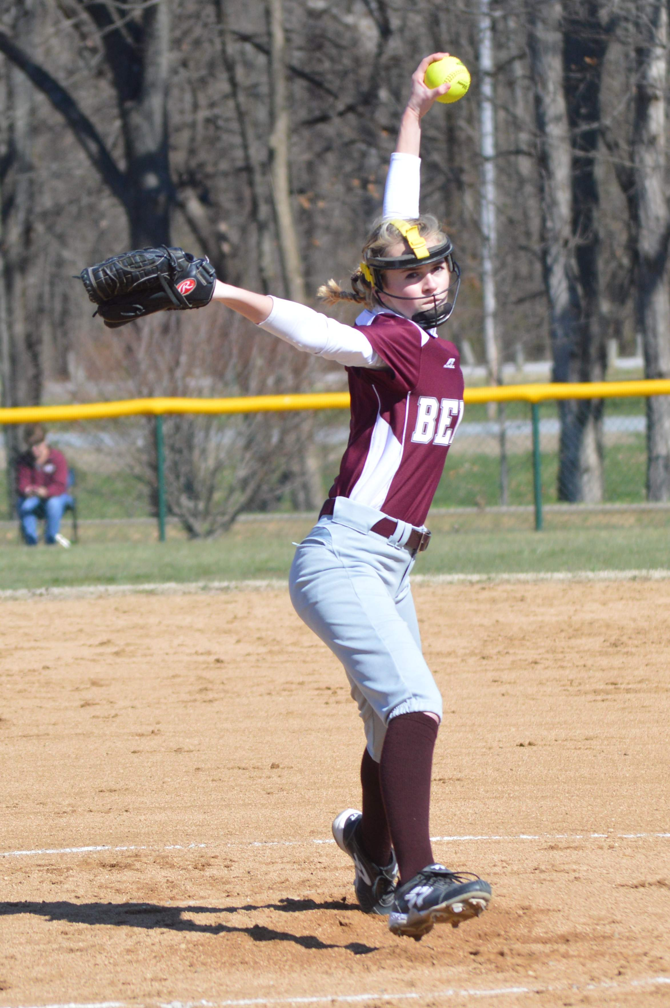 Freshman pitcher Kiley Carter delivers a pitch Saturday during the Rangerettes' game against the ZRC Tornadoes.