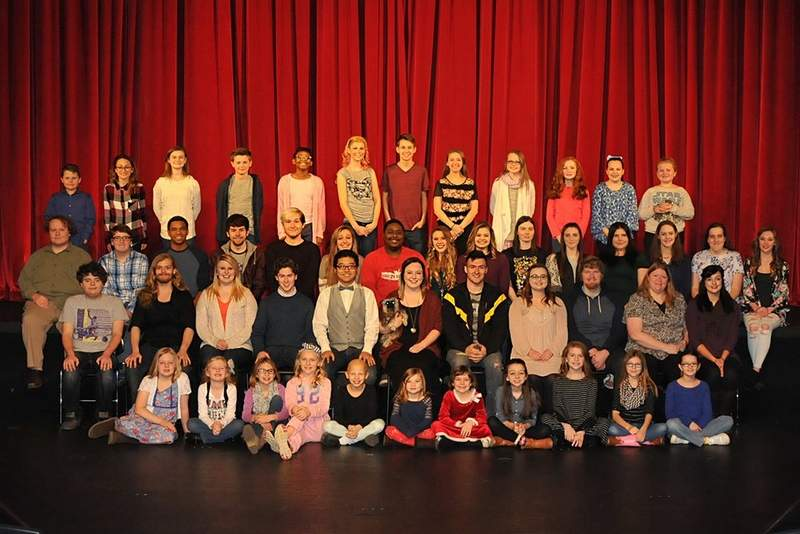 Pictured are members of the cast and crew of 'The Wizard of Oz.'