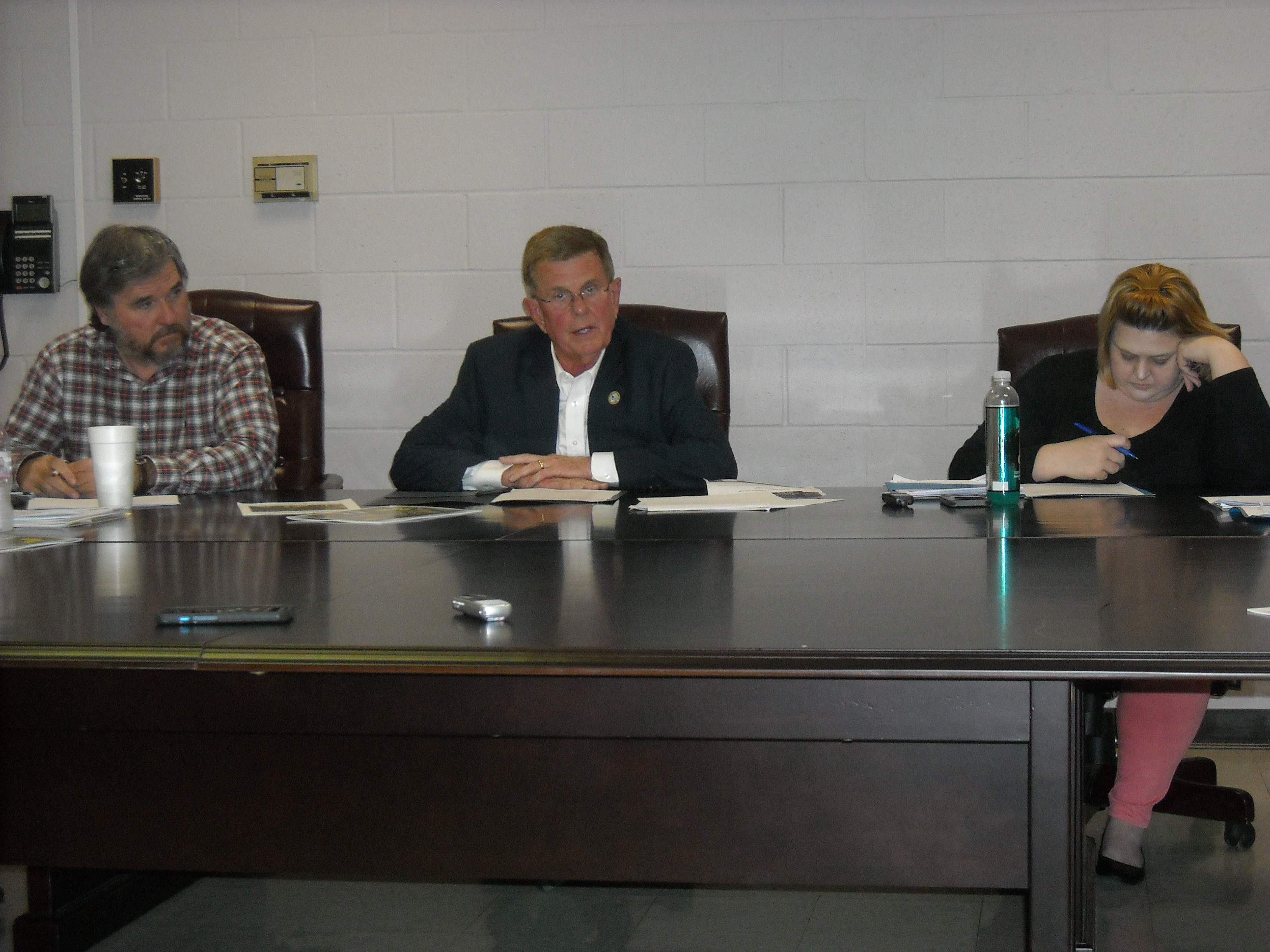 Benton Mayor Fred Kondritz addresses an issue during a city council meeting held Monday night at city hall.