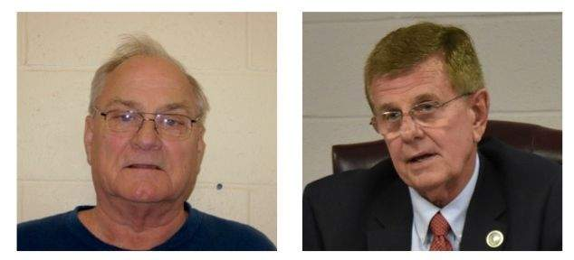 Albert Smith (L) is accused of punching Benton Mayor Fred Kondritz (R) on Feb. 8. Formal charges against Smith have not been filed. The incident remains under investigation.