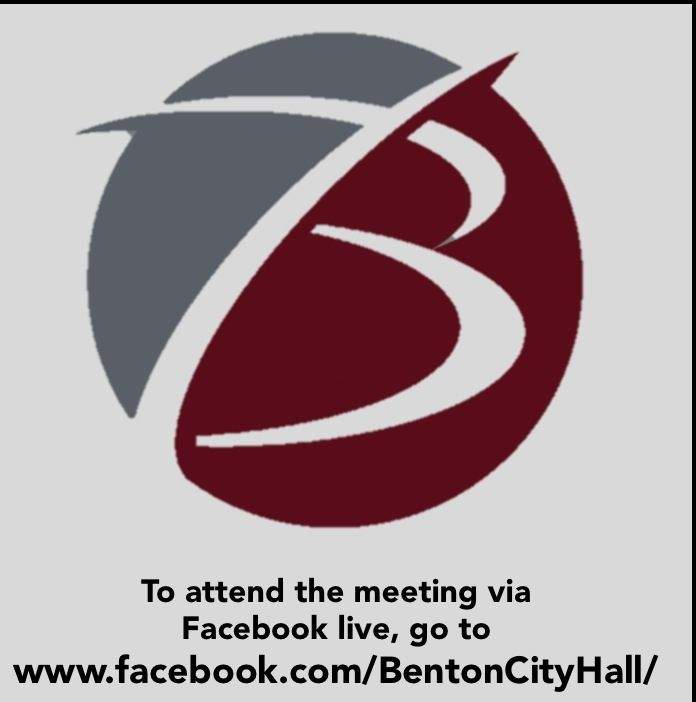 The town hall meeting will be broadcast via Facebook live, a first in communication for Benton.