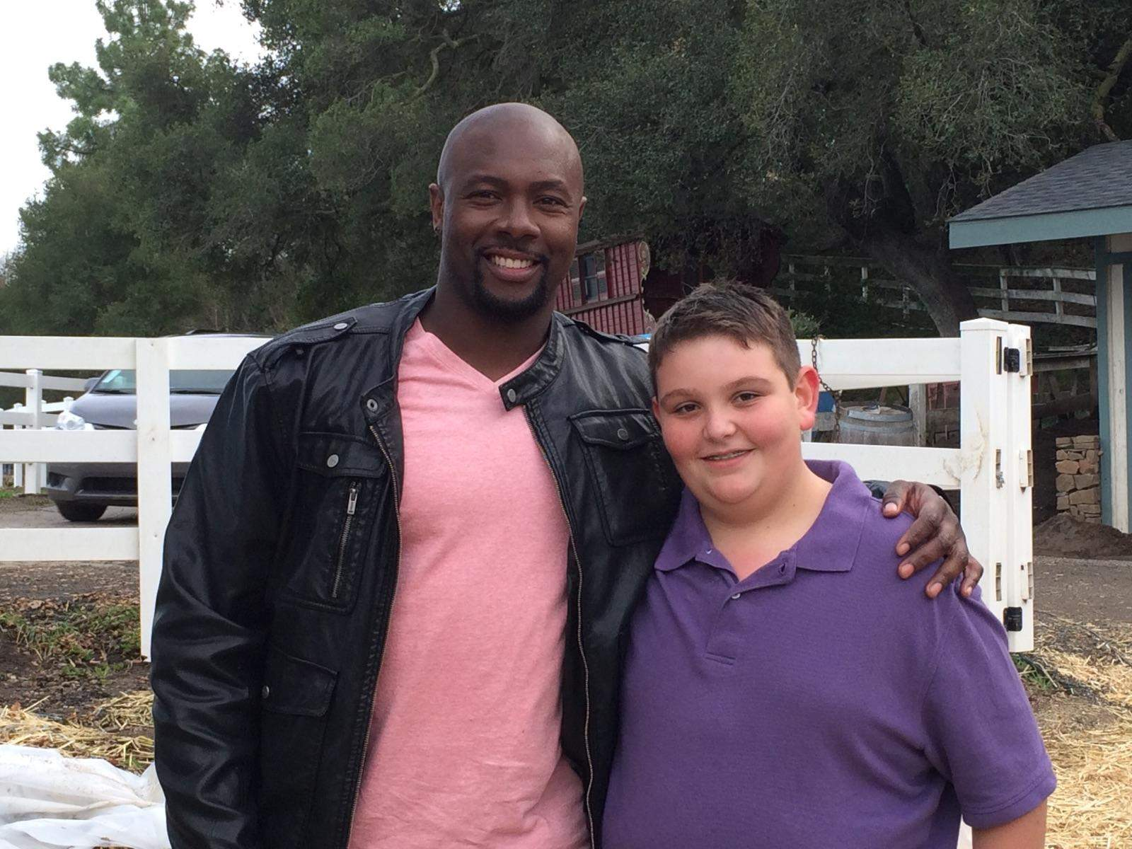 Josh Loyd of Marion poses for the camera with Eddie Jackson, co-host of the Food Network's 'Kids BBQ Championship.'