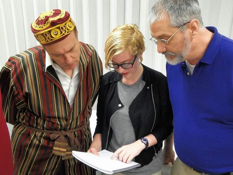 'Prodigal Son' director Kevin Rathunde talks with actorsSam Foskey and Amanda Syler.
