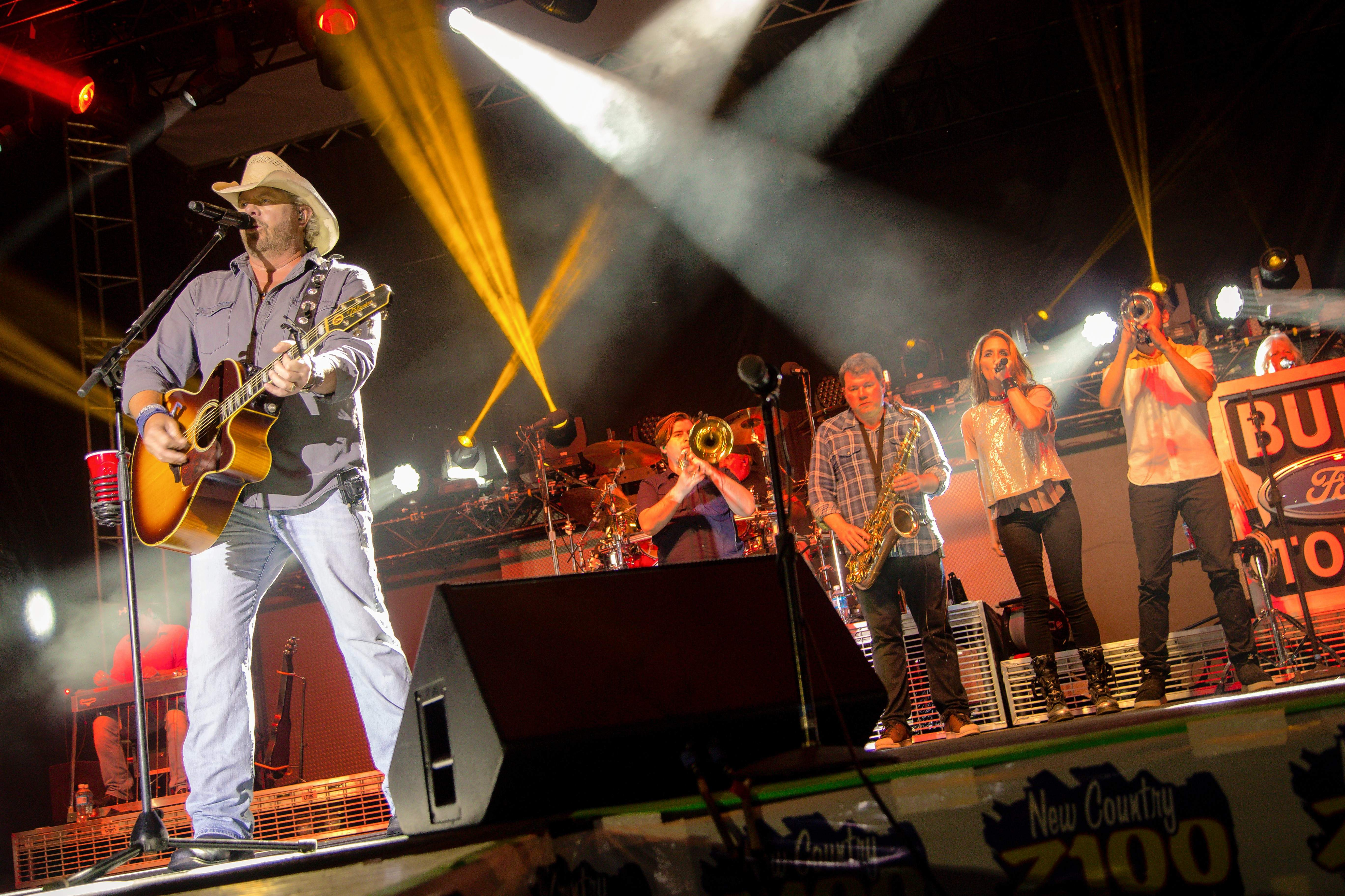 Toby Keith's Interstates and Tailgates Tour was the headline act Friday night.