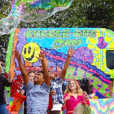 The Bubble Bus is coming to the Du Quoin Public Library July 27 with more bubbles than anyone has ever seen in one place -- and music, too. It's all part of the library's Summer Reading Program.