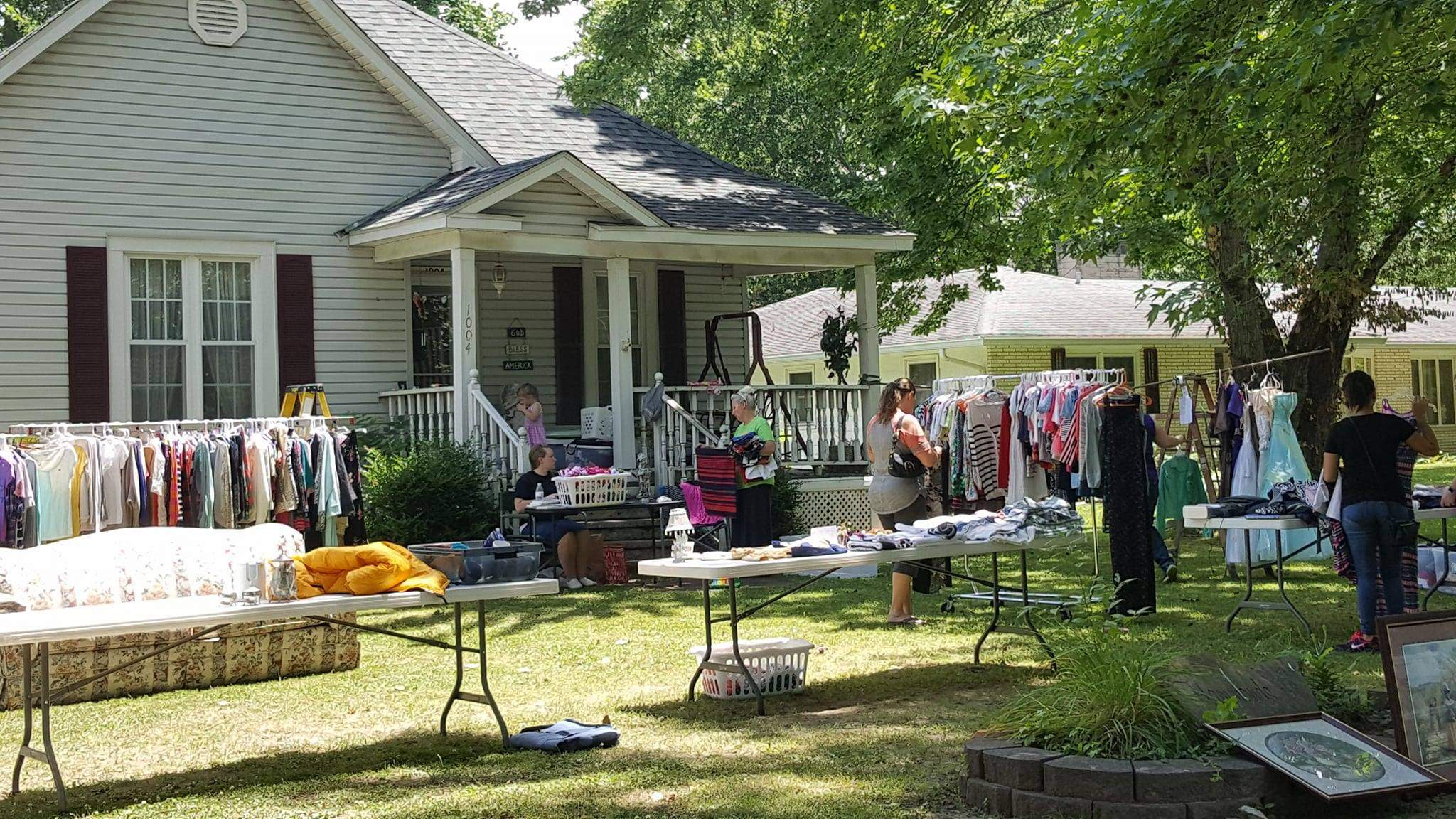 Vicky Hammonds was one of more than 50 Benton residents to participate in the city-wide yard sale last Saturday. 'We would have liked to get rid of everything,' Hammonds said, laughing, but she added that 'business' had been good.