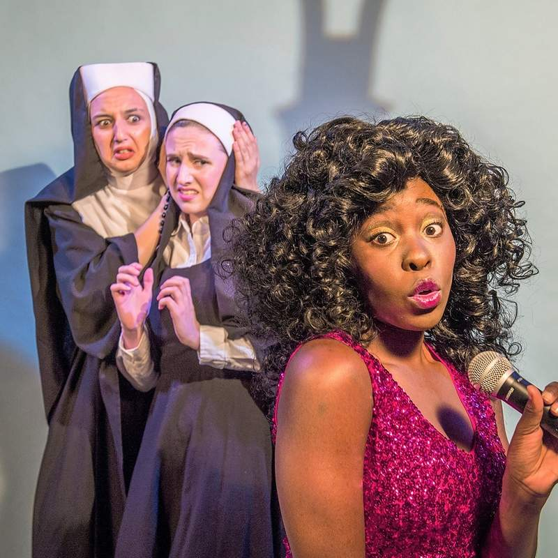 Lyndsay Manson, Shelby Terrell and Alexis Nwokoji are among the cast of 'Sister Act,' which opens next month in Carbondale.