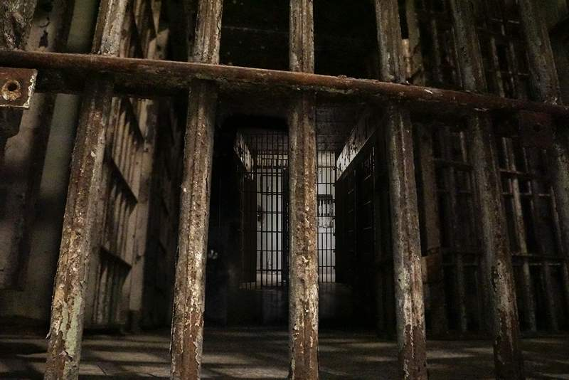 The eeriness of the bars that held convicted murderer Charlie Birger for a year before his hanging is now a part of the Escape Challenge at the Franklin County Historic Jail Museum.