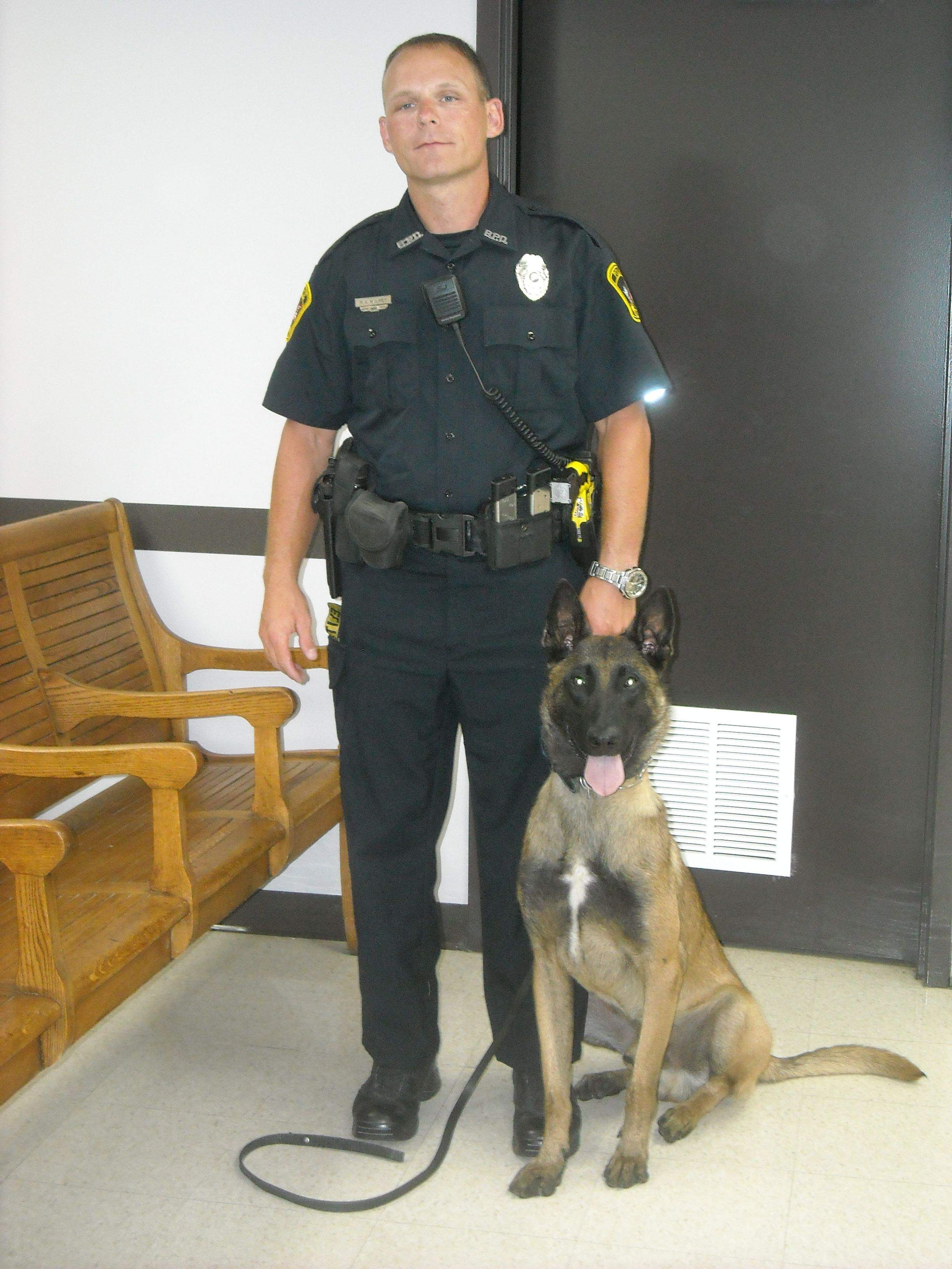 Benton Police Department's canine unit -- handler Mark Wilkey and Ranger -- attended Monday night's city council meeting.