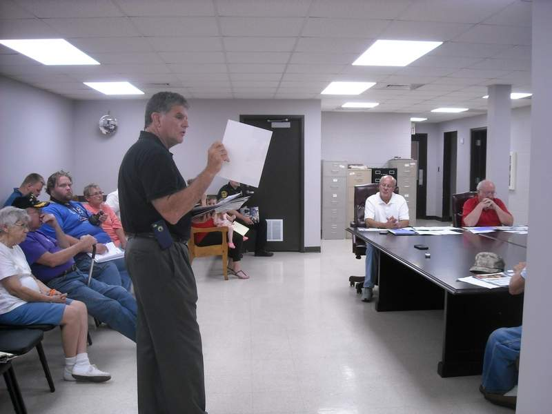 David Goncher, a sales representative for Colonial Life, made a presentation to Benton City Council members during Monday's meeting at city hall.