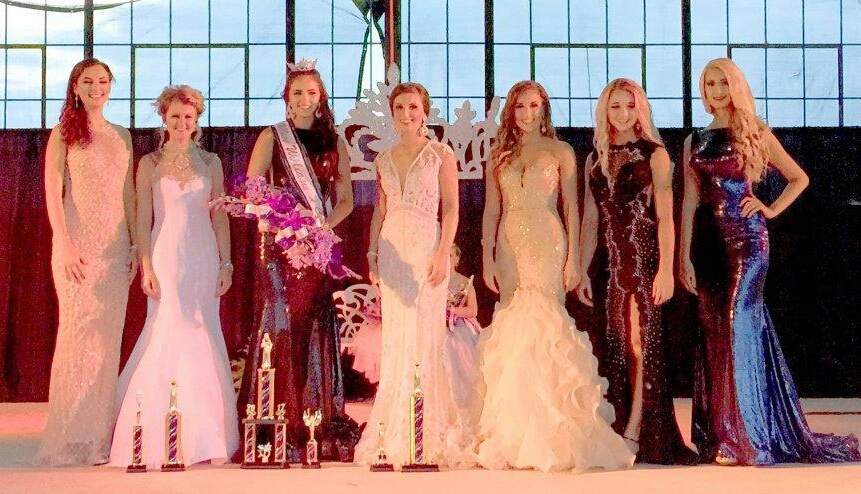 Newly crowned queen Alyssa Jackson is shown here with her court: Molly Mayhall of Golconda, Hilary Hughes of Simpson, Lexie Tourville of Murphysboro, Grace Vaughn of Herod and  Kate Mangels of Eldorado.