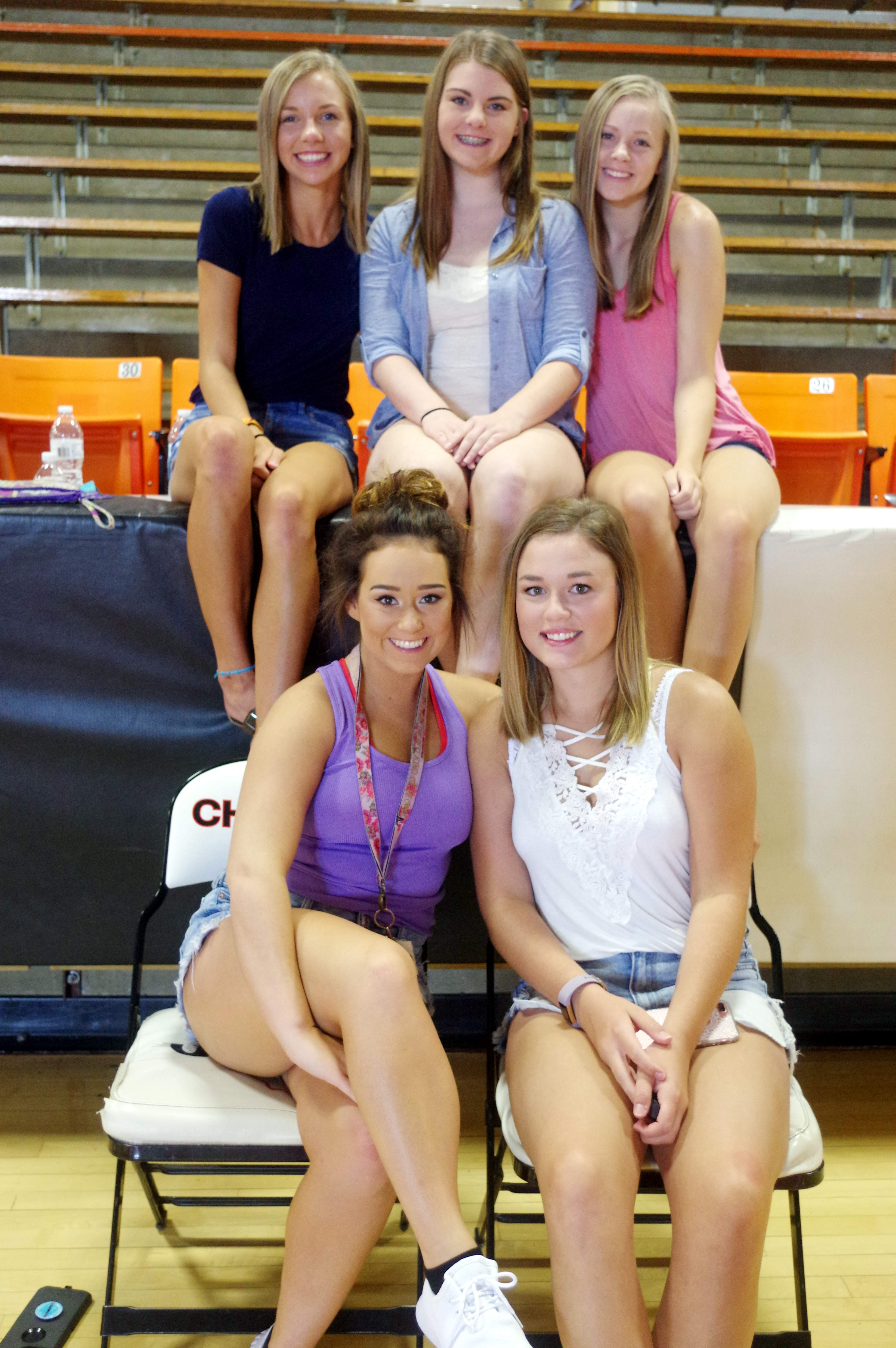 This group of Chester High School seniors served as volunteers at CHS Freshman Academy. Pictured, back row from left, Jessica Kattenbraker, Emily Atchison and Alli Kennon. Front row, from left, Jocelyn Abernathy and Hanna Bert.