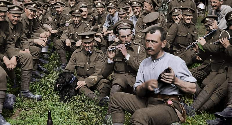 Peter Jackson's WWI documentary 'They Shall Not Grow Old' uses restored, colorized footage to tell an epic story of intimately personal scope.