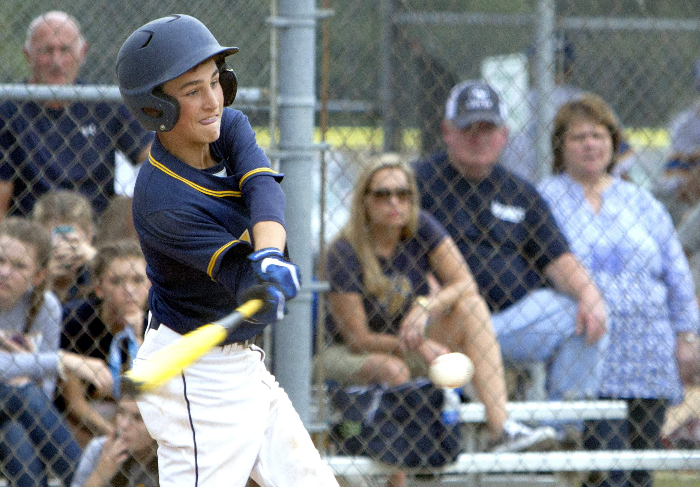 Mason Gooch swings at a pitch.