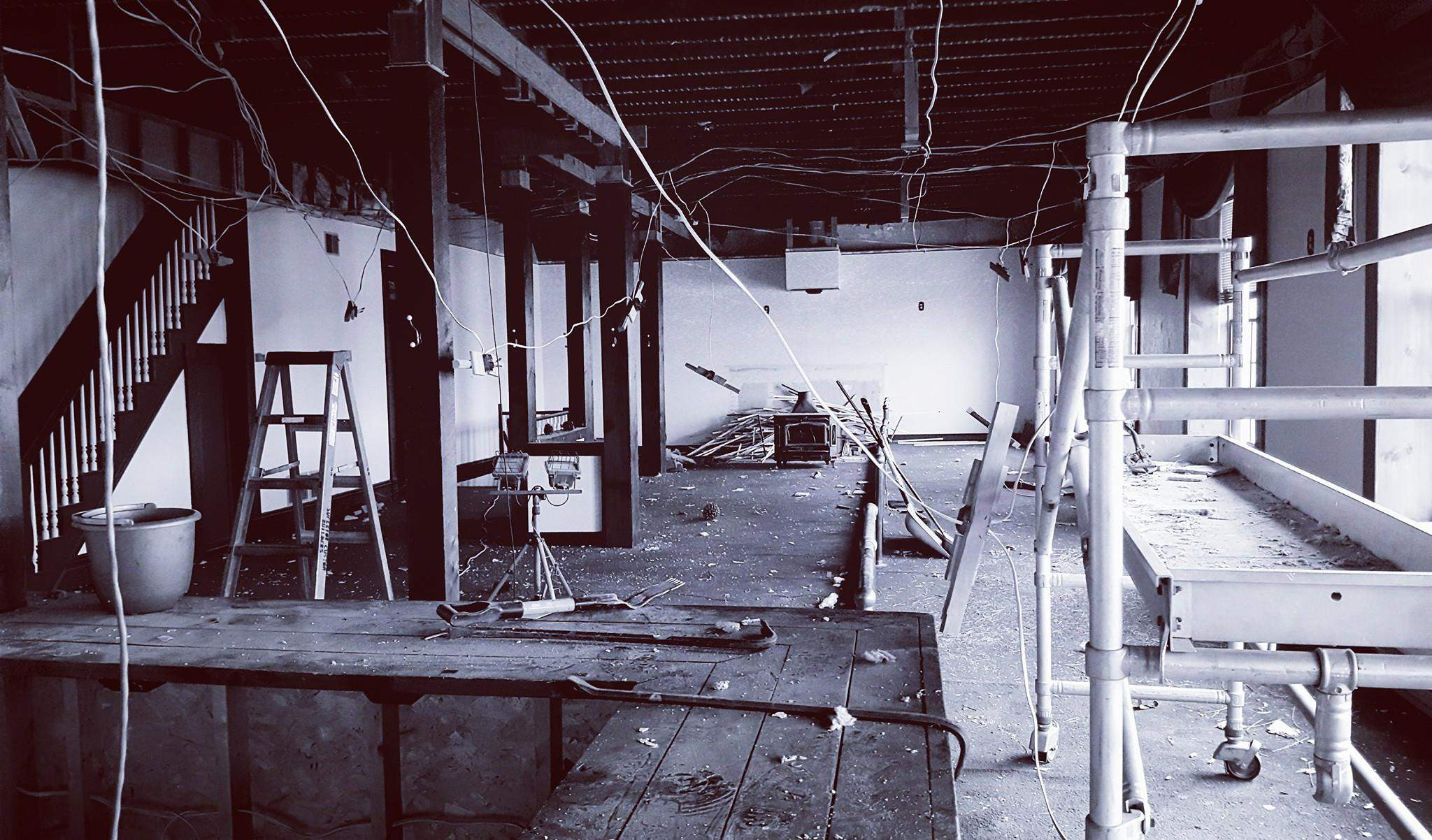 In this photo shared on the Landmark's Facebook page, renovations to the 185-year-old building are continuing. St. Nicholas Brewing Company, which bought the building in August, is aiming for a late summer/early fall reopening next year.