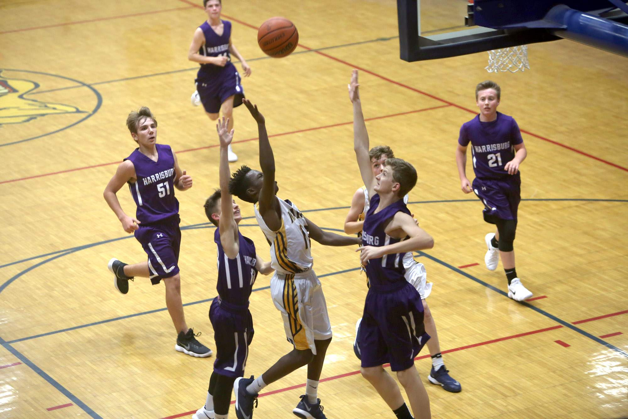 DeMareon Cooper floats a shot.