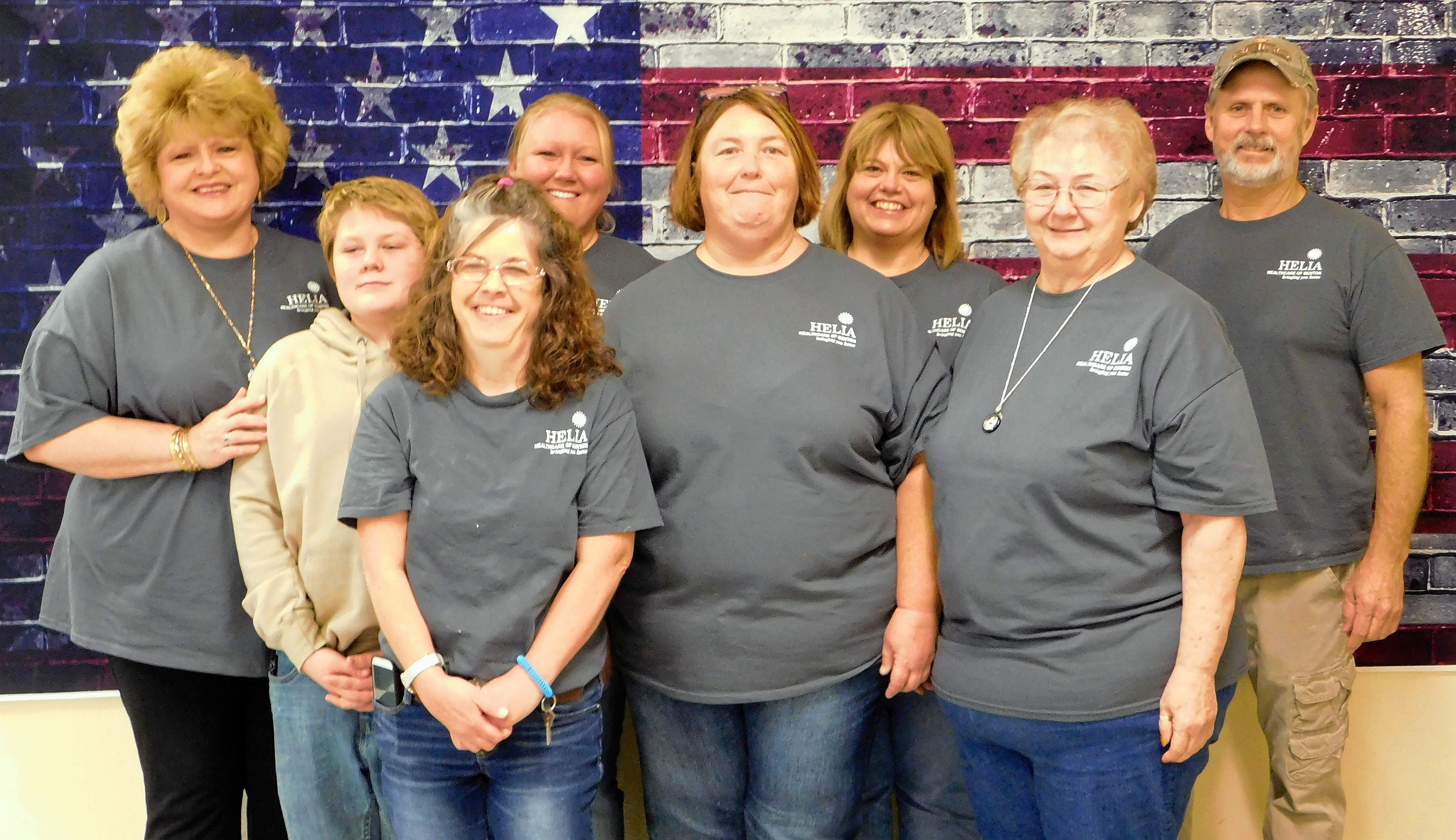 Holly Kee photoEmployees of Helia Healthcare of Benton spent the morning preparing a complimentary lunch of chili and hotdogs for the Veterans and their guests.