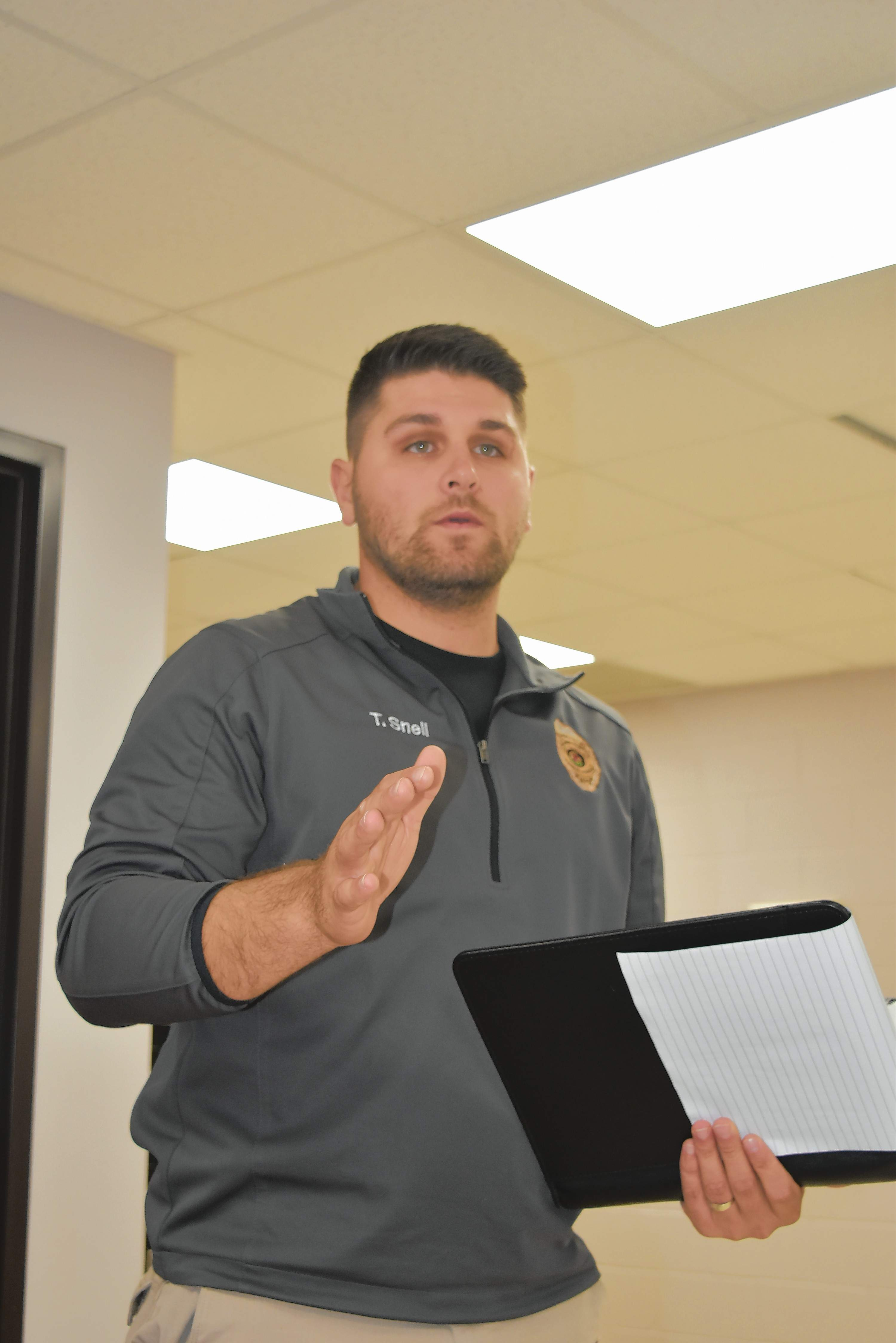 Franklin County Animal Control Supervisor Thad Snell explains the city's leash laws and said property owners who refuse to place leashes on their domestic animals may be fined.