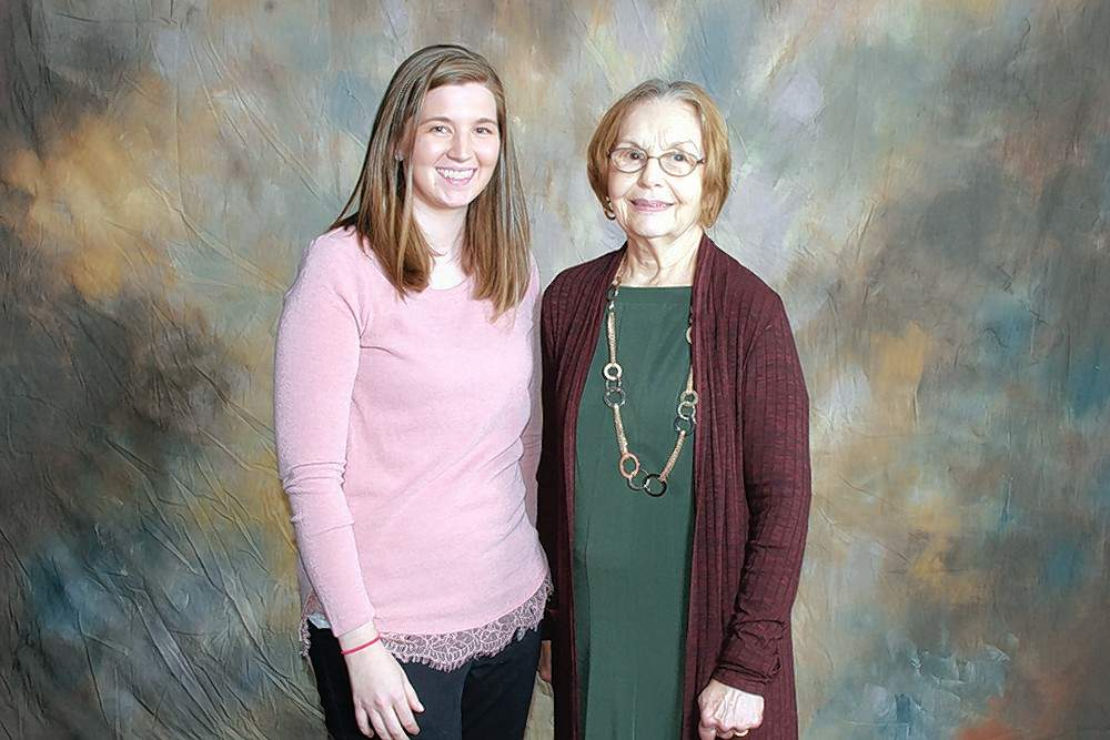 Dr. Warren E. Petty Memorial Scholarship recipient Hillary Ionson (Benton), left, is pictured with scholarship donor Phyllis Petty.