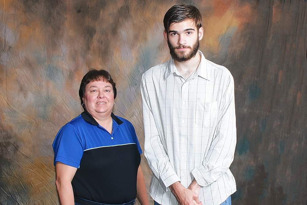 Clifton Caldwell Memorial Scholarship recipient Philip Beaman (Sesser), right, is pictured with scholarship donor and RLC mathematics professor Cindy Caldwell.