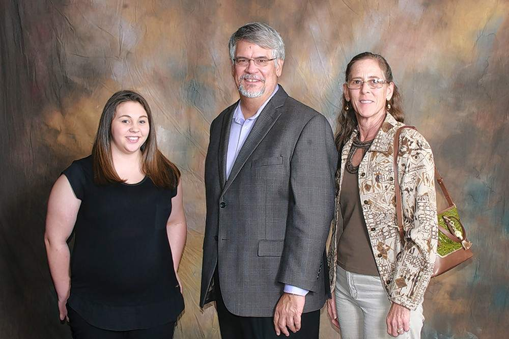 Franklin County Medical Society Scholarship recipient Bethany Zinzileta (Benton), left, is pictured with scholarship donors Dr. Richard Rethorst and Jan Rethorst.