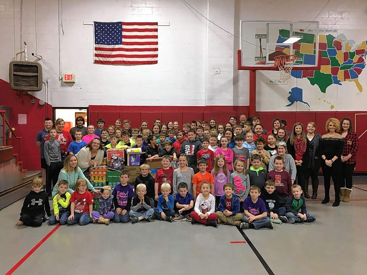 Students at Akin Grade School recently donated more than 1,000 items, as well as $169 and counting, to the Night's Shield.