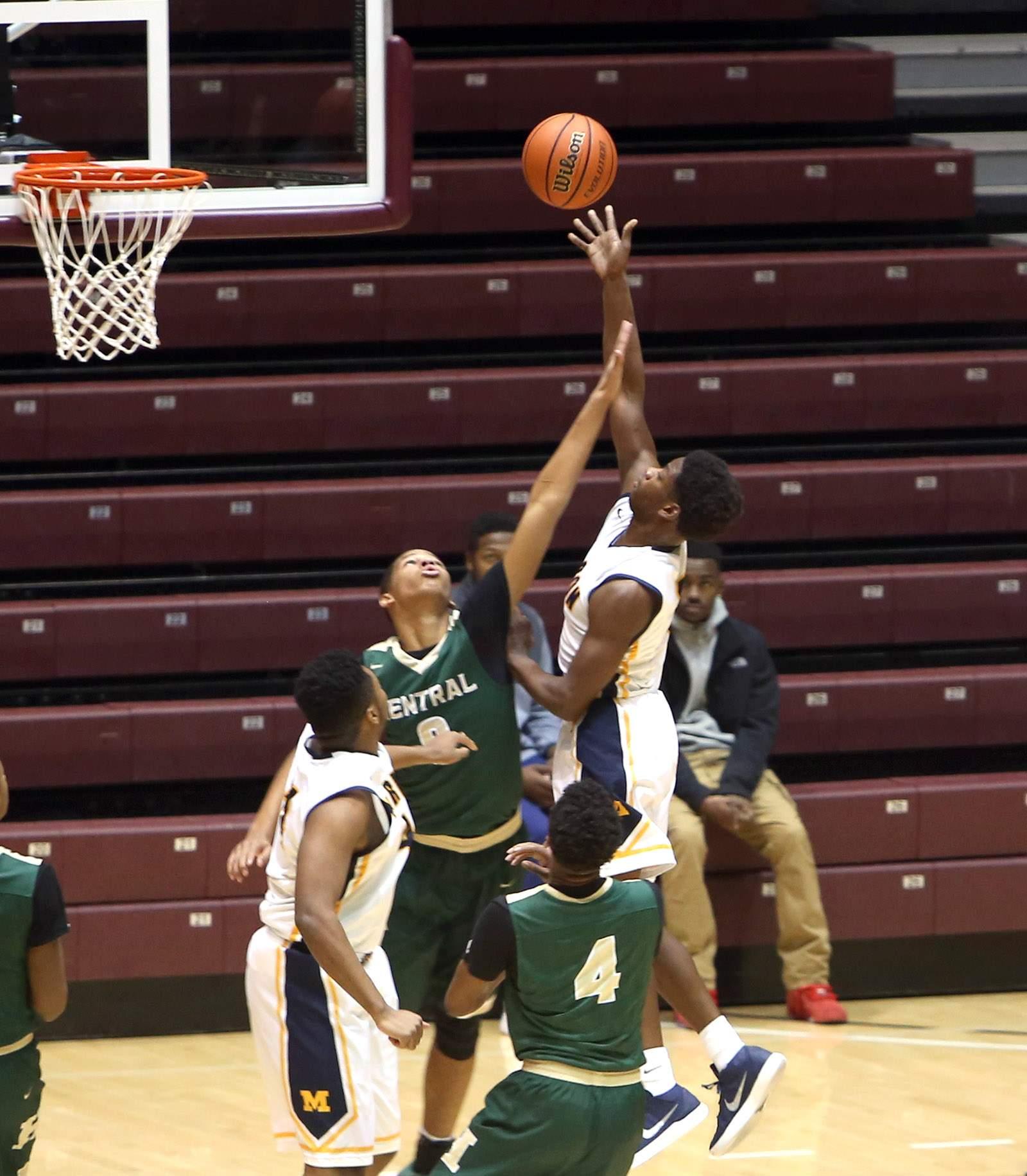 Jaden Lacy shoots against Memphis Central.
