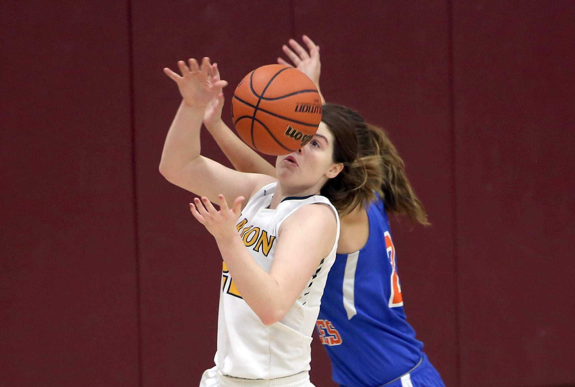 Abby Bayer makes a steal.