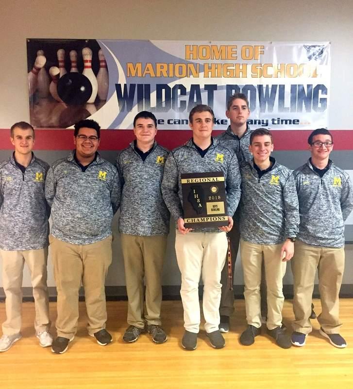 The Marion High School boys bowling team.