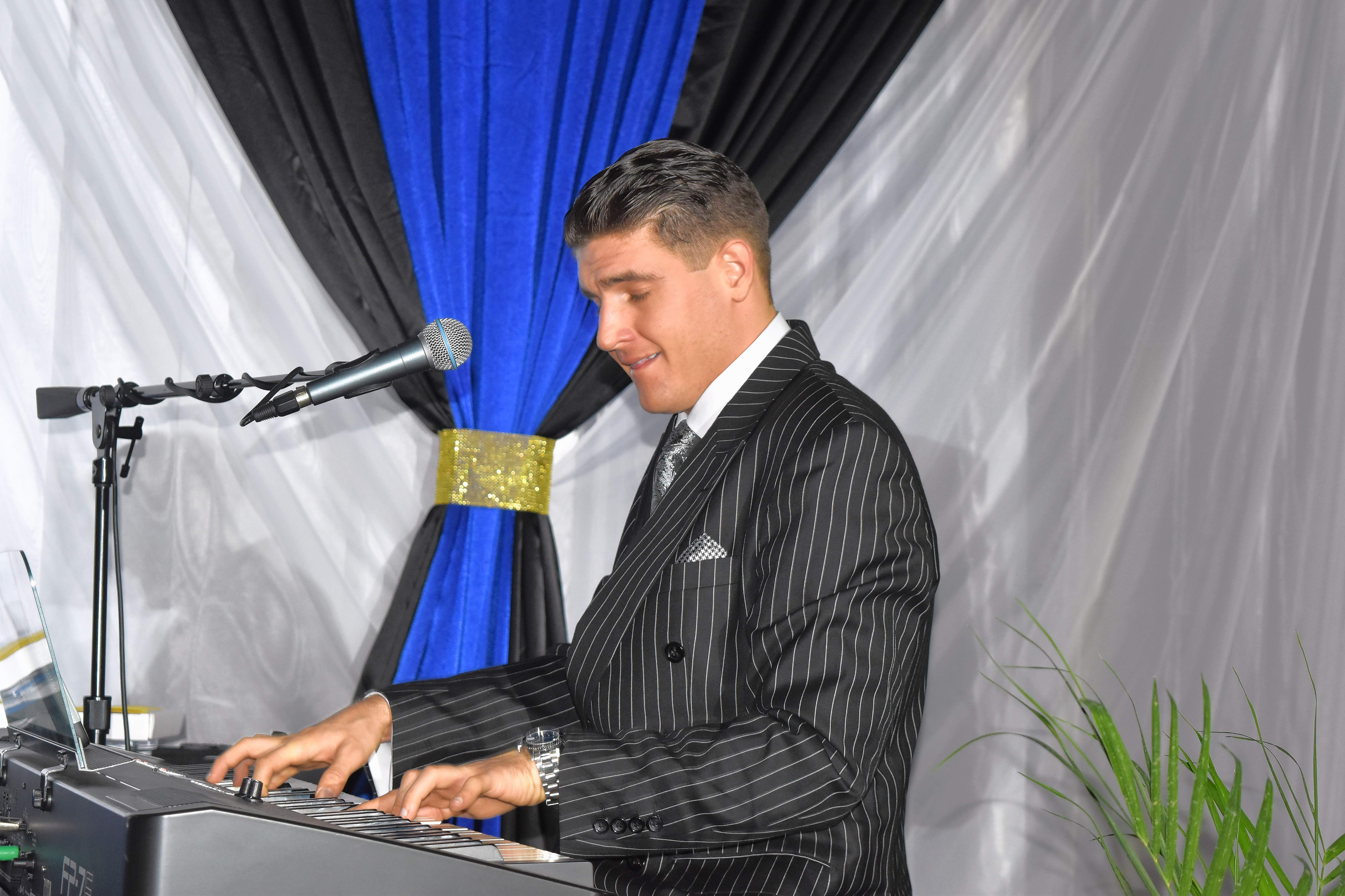 Pianist Brock Bertling provided some musical entertainment Friday prior to the start of the annual Chamber dinner.
