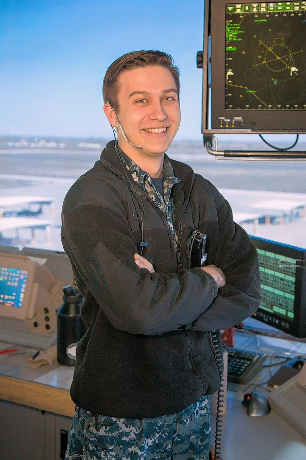 Petty Officer 2nd Class Zack Bernico is heading to TOPGUN as an air traffic control instructor. Bernico is a 2014 graduate of Johnston City High School.