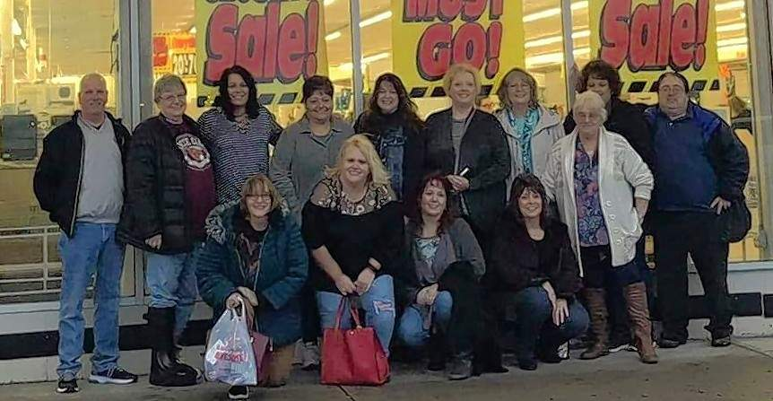 Former employees of the West Frankfort Kmart gathered Monday evening to say goodbye to the place where their friendships were created.