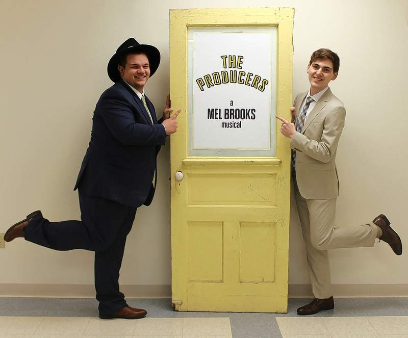 "Alex McRoy of Harrisburg (left) plays Max and Jordan Richey of Benton plays Leo, the main characters in ""The Producers"" at SIC April 20-22."