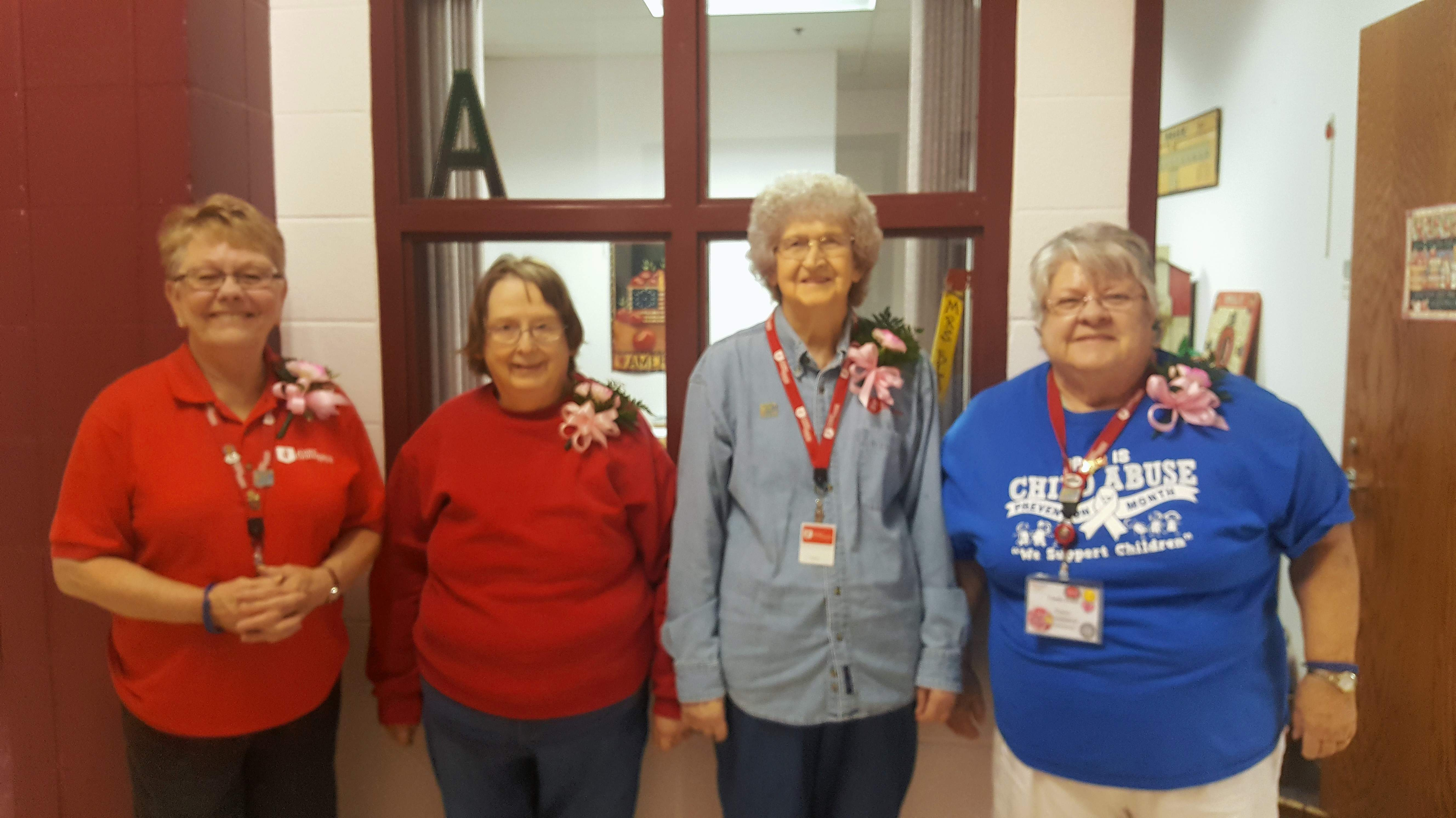 Benton Grade School 'Grandmas' include, from left to right, Mary Horton, Mary Dillon, Norma Shockley and Linda Peter. Not pictured is Rena Brookshire.
