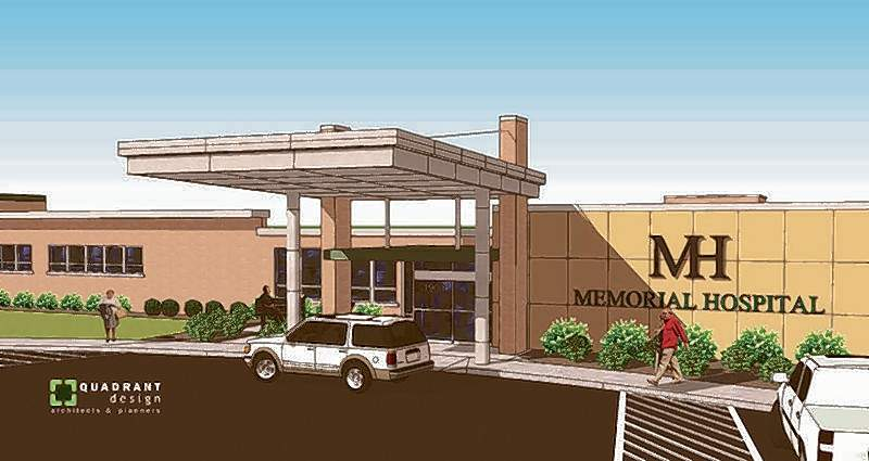 Memorial Hospital in Chester will begin installing a new front entrance canopy and main entrance renovation this summer, the first step in a five-year renovation plan for the hospital.