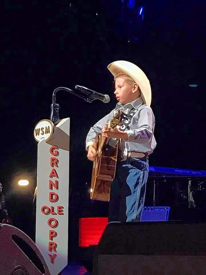 Mason Ramsey performs Saturday at the Grand Ole Opry in Nashville.