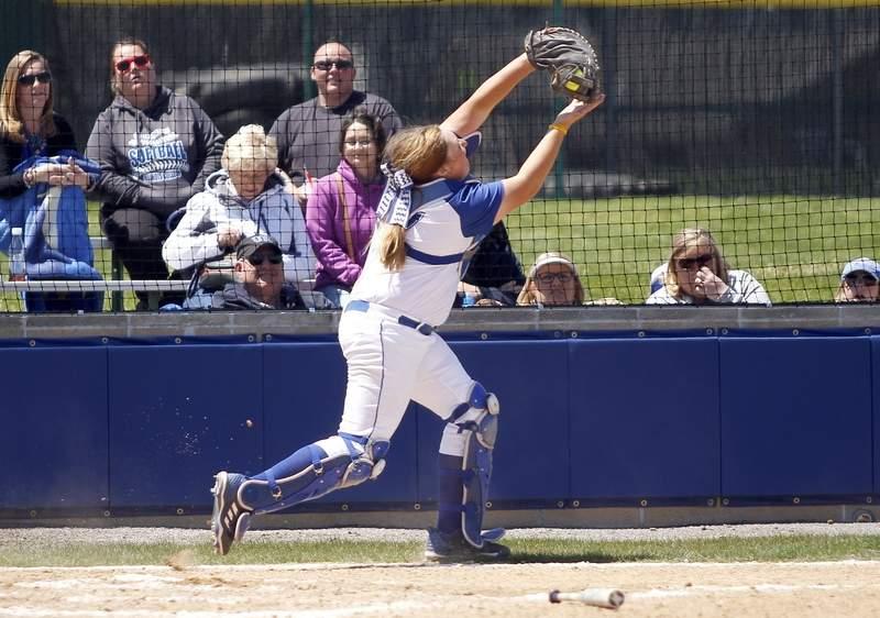 Ally Vaughn makes a catch.