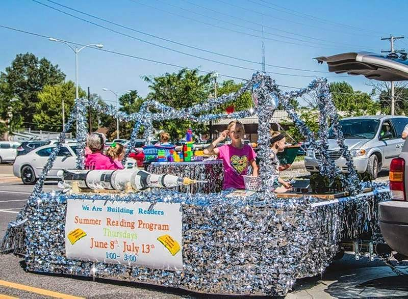 The Rend Lake Water Festival parade features a variety of entries including marching bands, antique tractors and floats, like last year's entry from the Benton Library touting the Summer Reading Program.