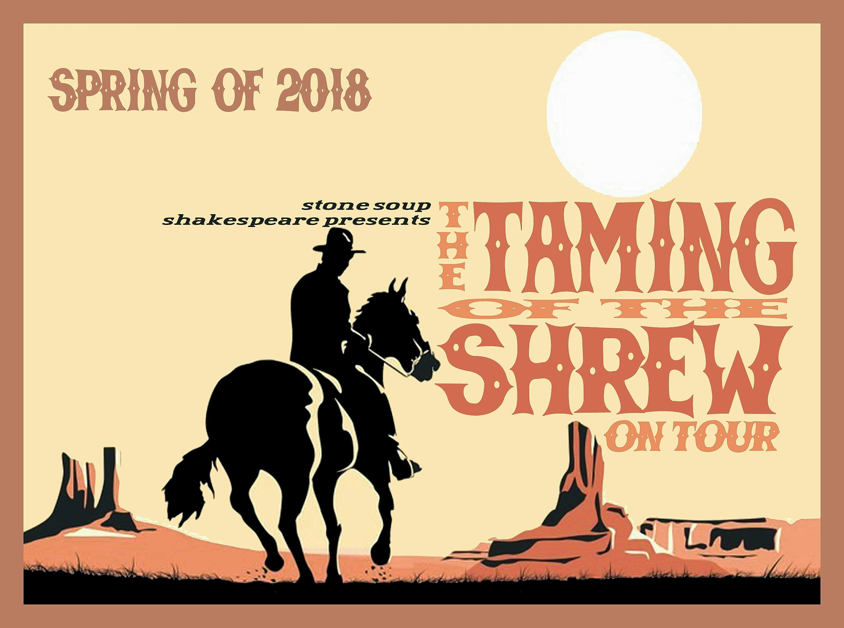 Taming of the Shrew poster.