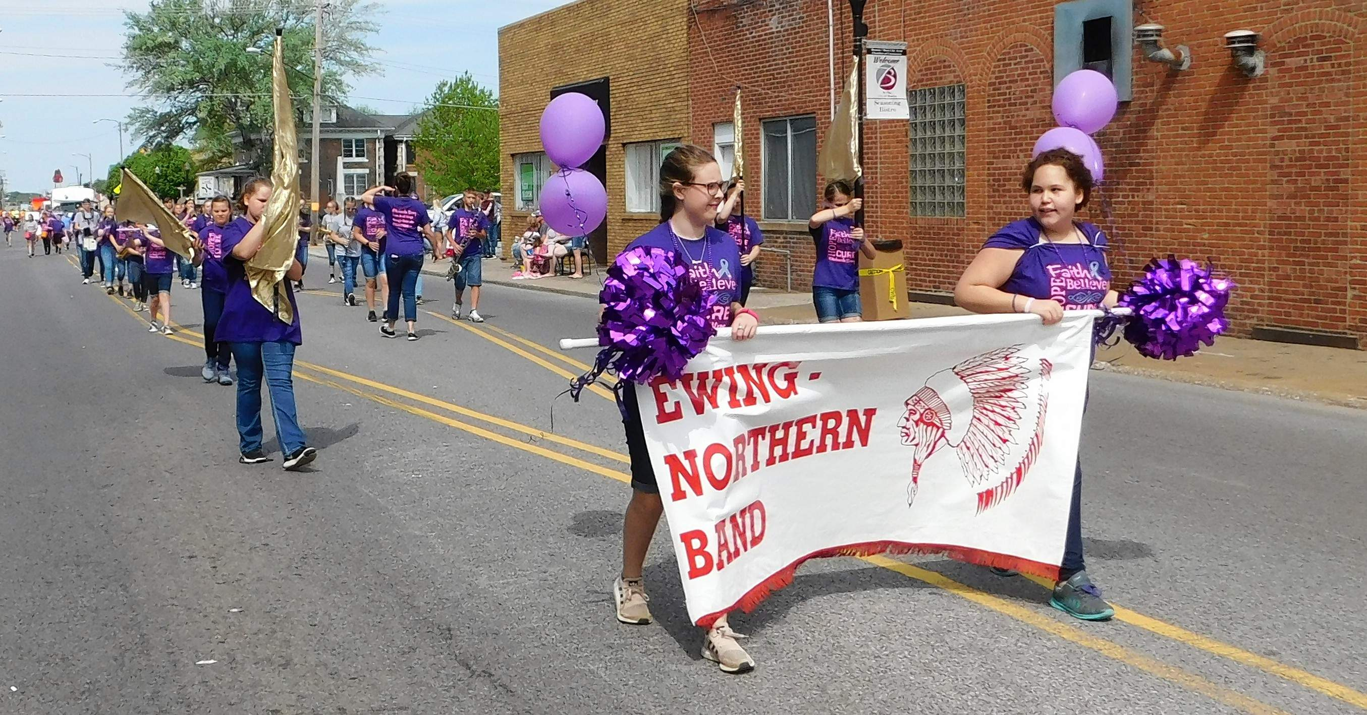 The Ewing Northern Grade School band scrapped its uniforms, dressing instead in purple 'Makanda Strong' shirts in honor of their classmate, Makanda Williams, who passed away last week after a year-long battle with DIPG.