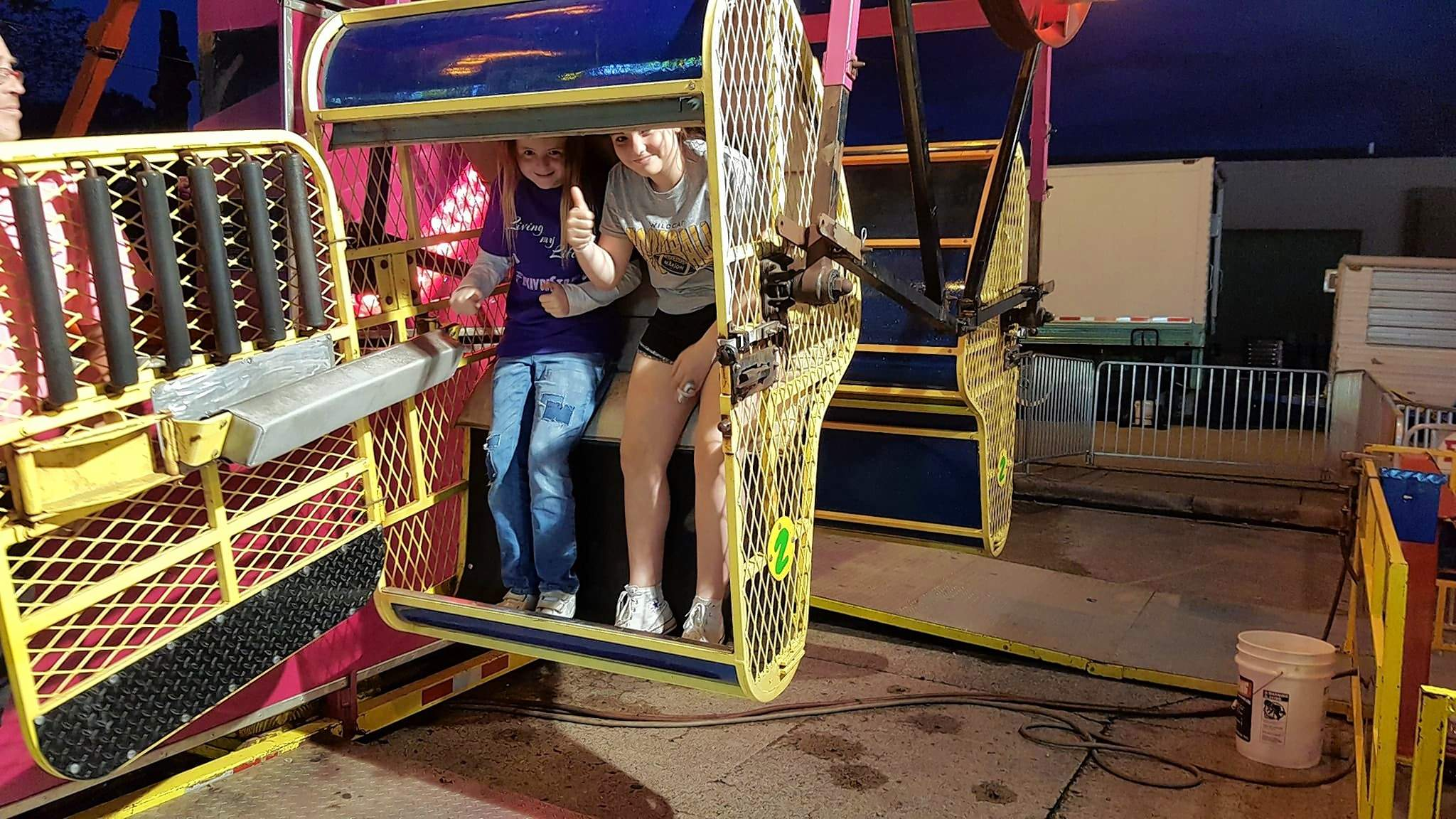 The 'Random Act of Kindness' movement to honor Makanda Williams started with a bang. Raylynn Alexander (left) enjoyed the carnival Friday night, courtesy of Makanda's family, and even met some new friends, like Macy Glasser, along the way.
