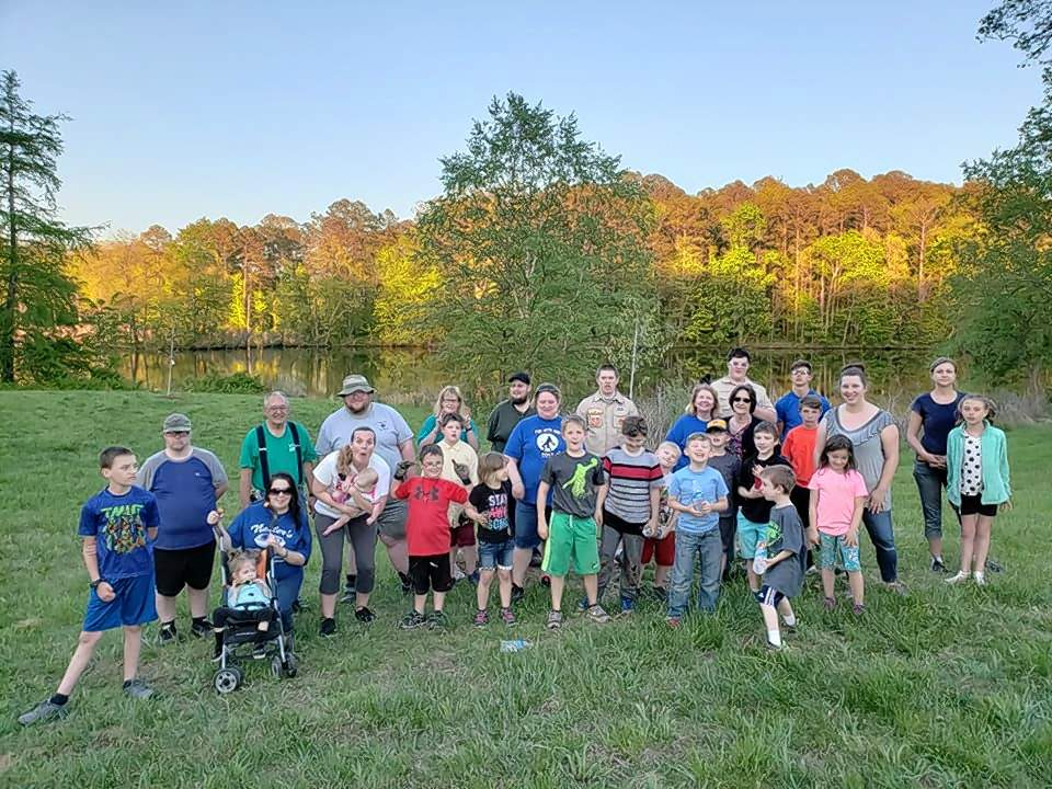 Benton Cub Scout Pack 28 spent some time at Twin Oaks planting trees Monday evening. The group will also march in the Old King Coal parade in West Frankfort this weekend.