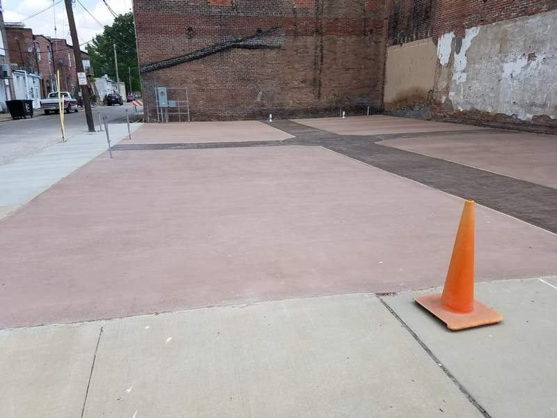 Pictured is a lot on East Main Street in Du Quoin that will soon be transformed into John Croessman Square, a public meeting place that can be used for special events at no charge.