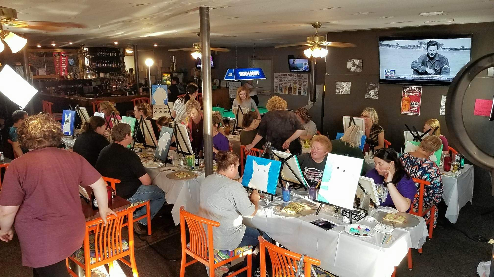 Area pet owners were busy painting portraits of their pets as a fundraiser for the Perry County Humane Society last week at Backwater Pub and Grub in Du Quoin. The event was such a success that a second such fundraiser has been planned for June 20 at the Twisted Pair, also in Du Quoin.