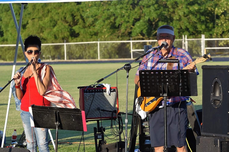 The Last Call Band plays on Eldorado's main stage.