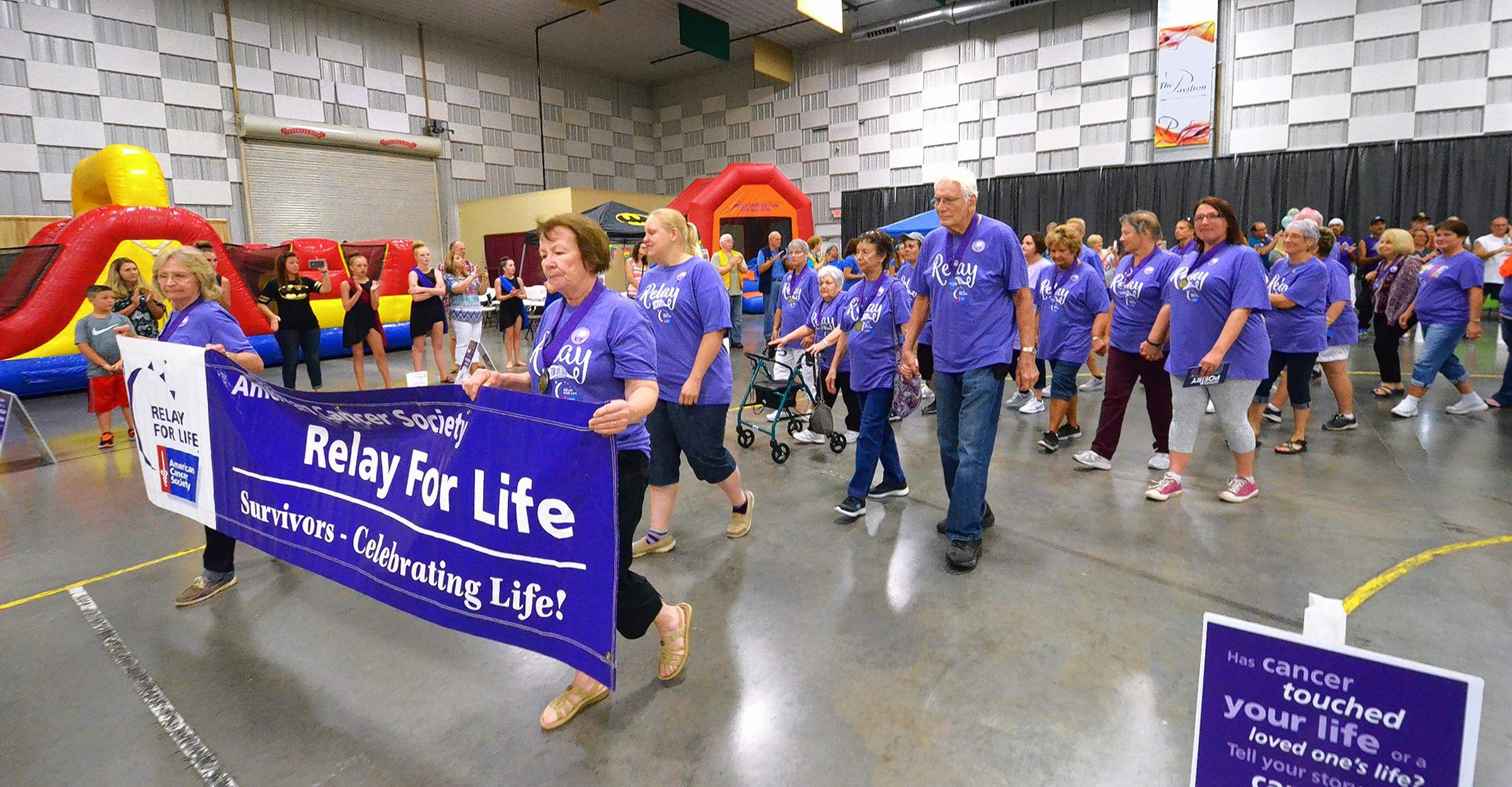 The first lap at Relay For Life events is always made up of cancer survivors. This was that lap Saturday night at The Pavilion of the City of Marion.